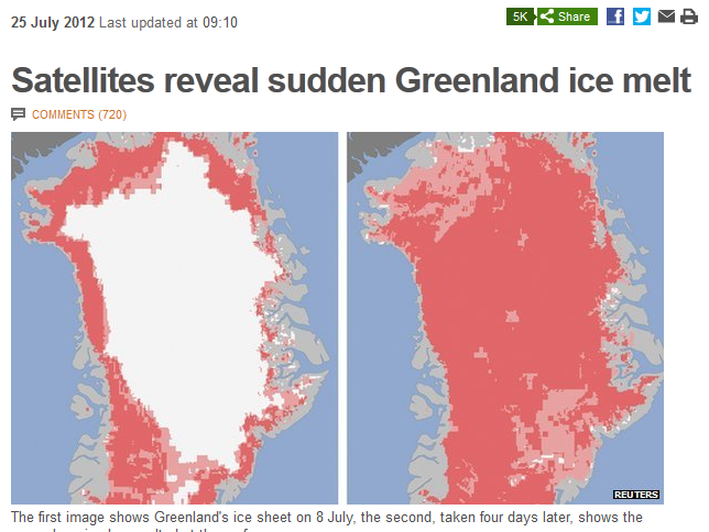 Greenland melt on the BBC