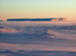 Sea ice and Iceberg in Antarctica
