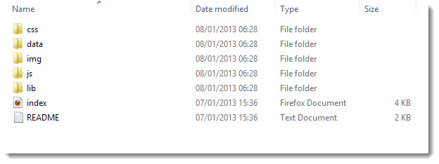 archive  file structure