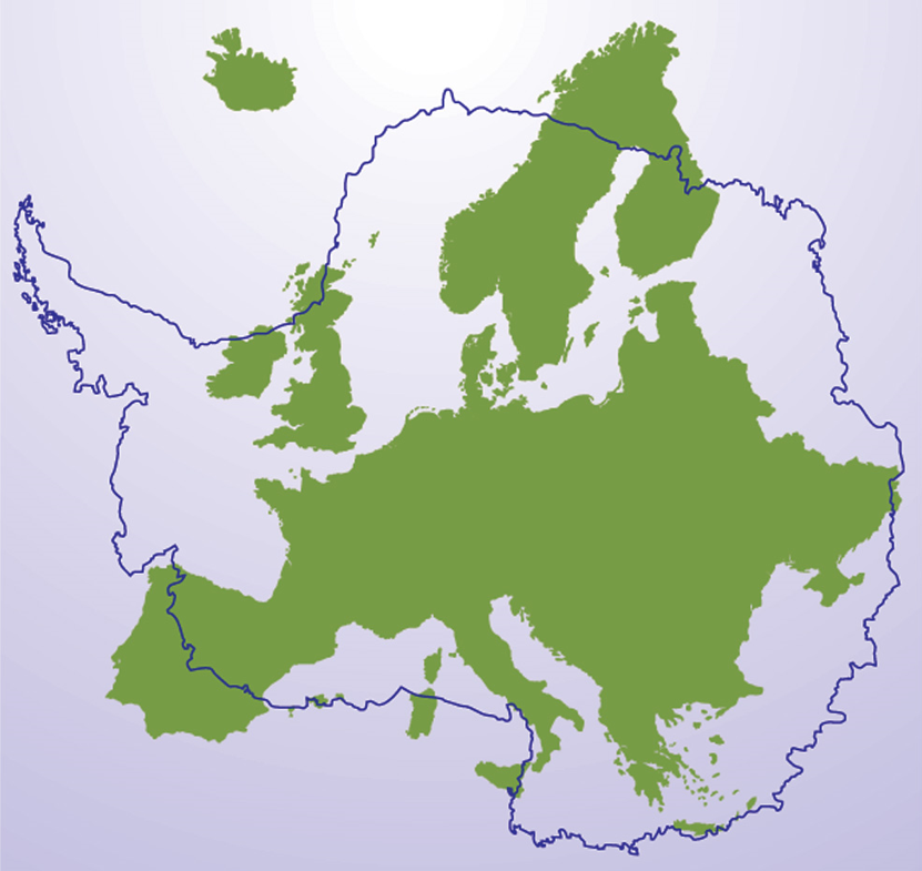 The size of Antarctica compared with Europe | Mallemaroking