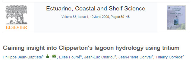 Gaining insight into Clipperton's lagoon hydrology using tritium