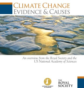 The Cover of the Royal Society Climate Change report