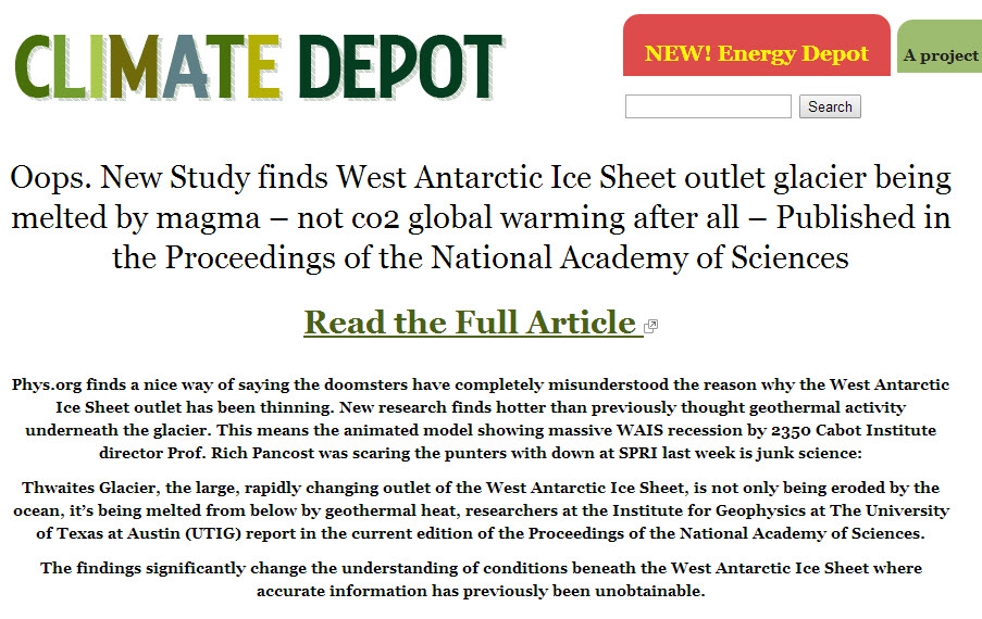climate depot headline