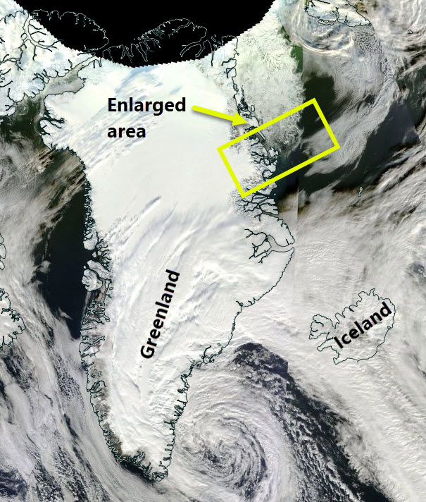 Where the sea ice image is from
