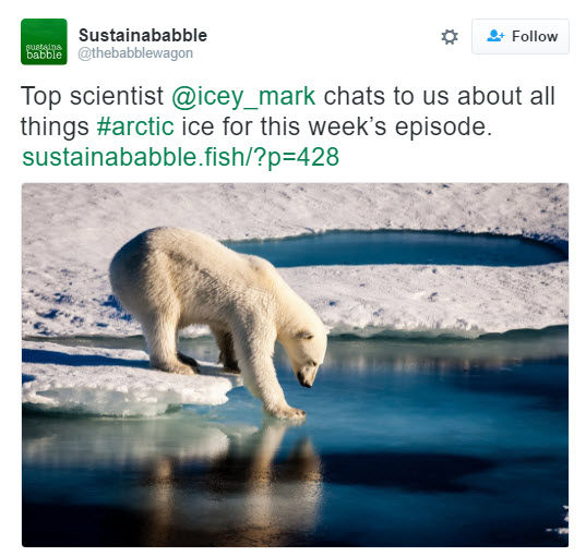 Advert for the Sustainababble Arctic podcast