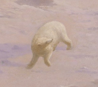 Detail from: An Arctic Summer: Boring Through the Pack in Melville Bay by William Bradford, 1871.
