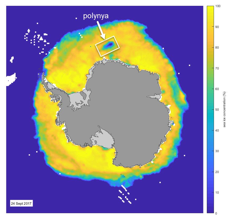 Location of Maud Rise polynya 25 Sept 2017.