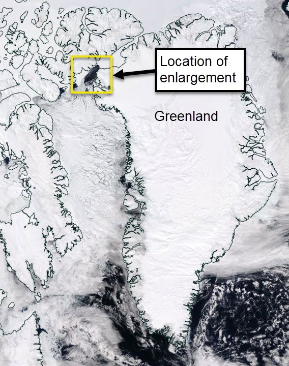 The location of the polynya region.