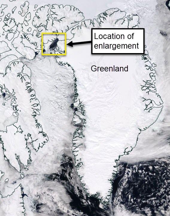 The location of the polynya region.
